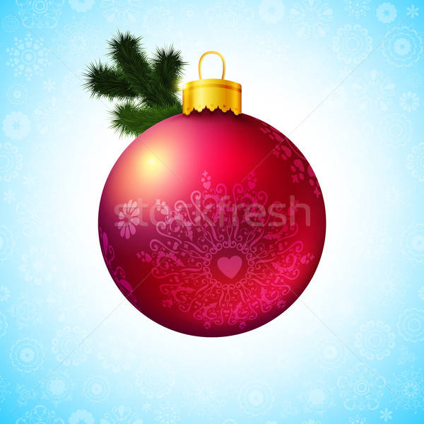 Heldere christmas bal tak glas Stockfoto © alevtina
