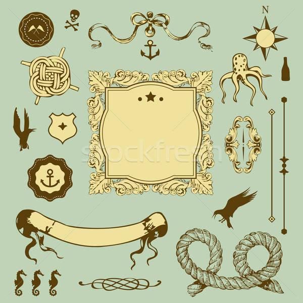 セット 要素 デザイン することができます 中古 ストックフォト © alevtina