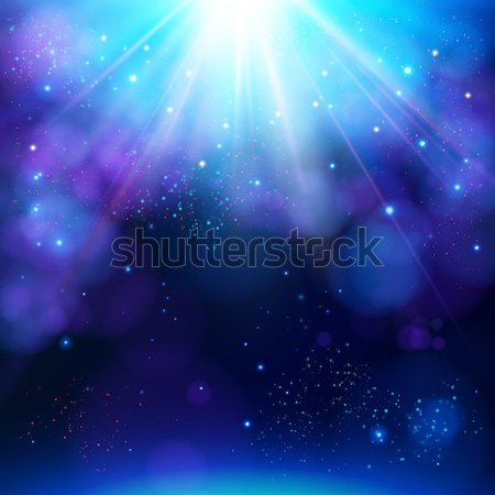 Sparkling blue festive star burst background Stock photo © alevtina