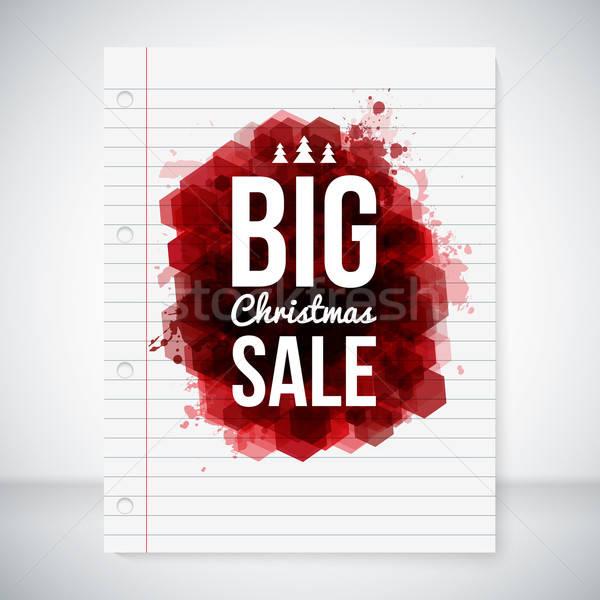большой продажи стилизованный чернила Рождества бумаги Сток-фото © alevtina