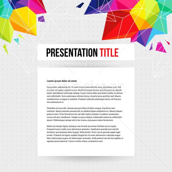 Modèle affaires présentation géométrique résumé web Photo stock © alevtina