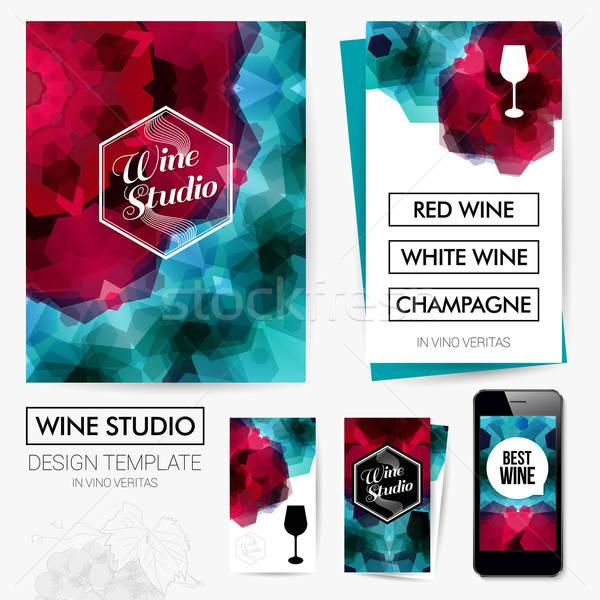 Identity design for Your Wine studio business. Set of blanks, bu Stock photo © alevtina