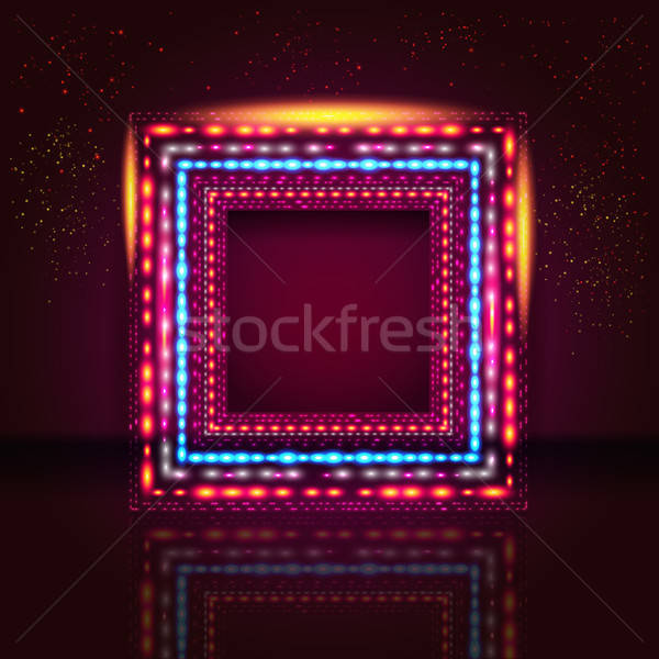 Elegant vinous background with shiny frame and place for Your te Stock photo © alevtina
