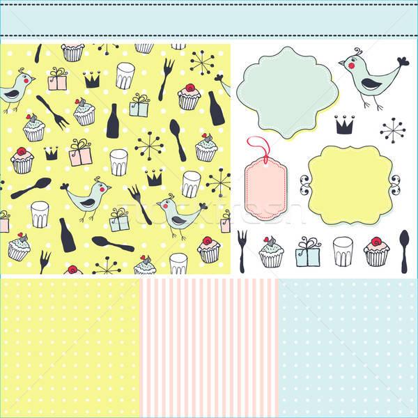 Foto stock: Colorido · conjunto · padrões · quadros · elementos