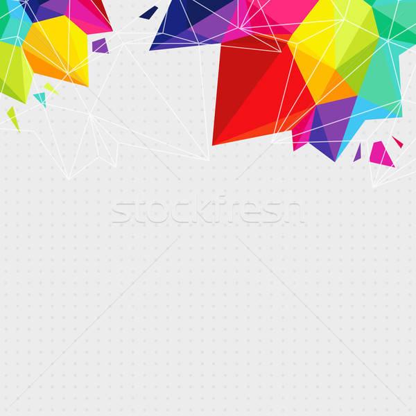 геометрический ярко треугольник Элементы место текстуры Сток-фото © alevtina