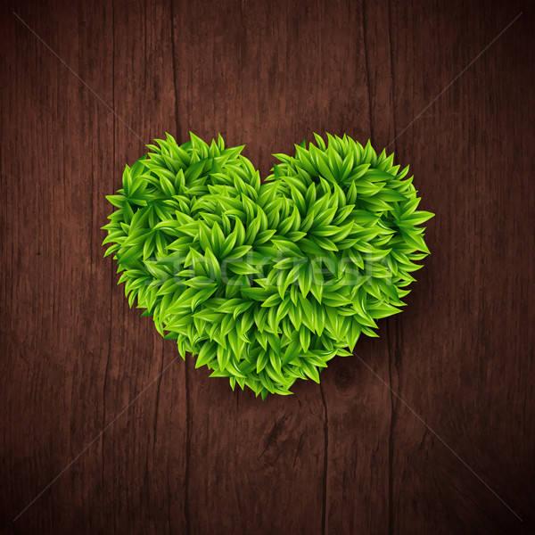 природного сердце листьев текстуры весны Сток-фото © alevtina