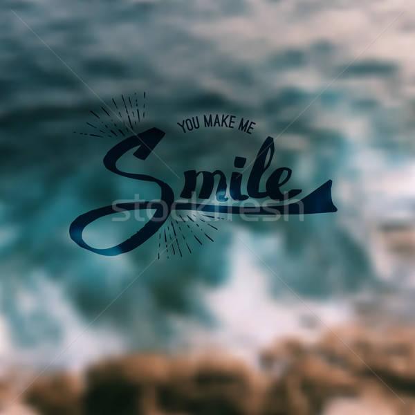 мне улыбка Вдохновенный сообщение Сток-фото © alevtina