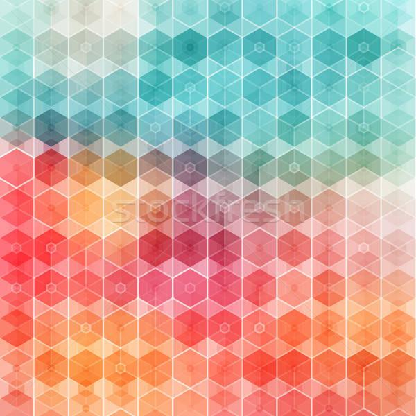 Nice motif géométrique vecteur image papier Photo stock © alevtina
