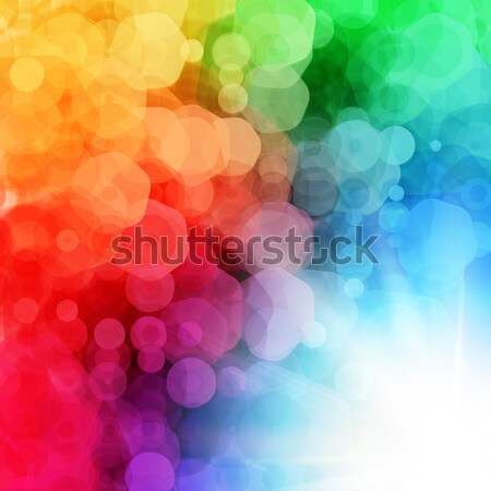 Abstract geometric background with sun burst. Vector illustratio Stock photo © alevtina