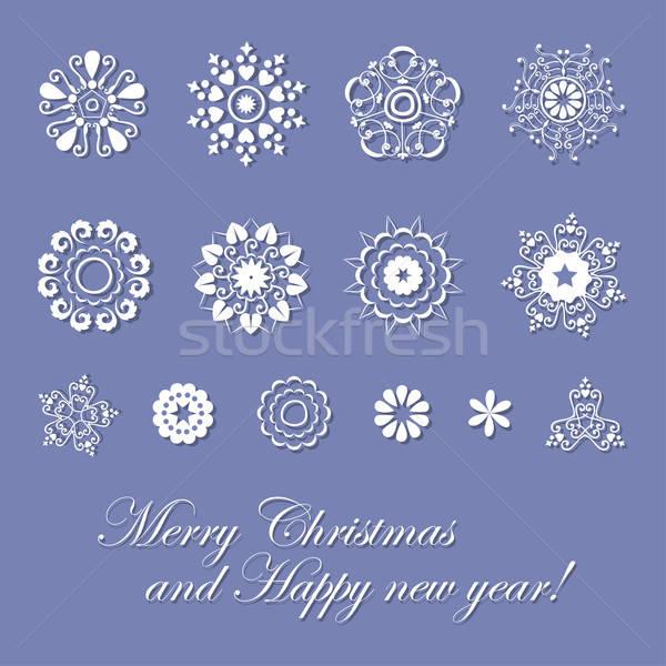 Vakantie kaart vrolijk christmas gelukkig nieuwjaar gelukkig Stockfoto © alevtina