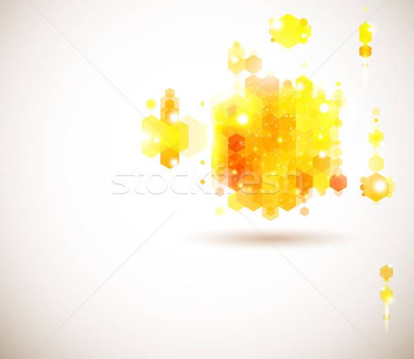 Parlak güneşli sayfa düzen tanıtım geometrik Stok fotoğraf © alevtina