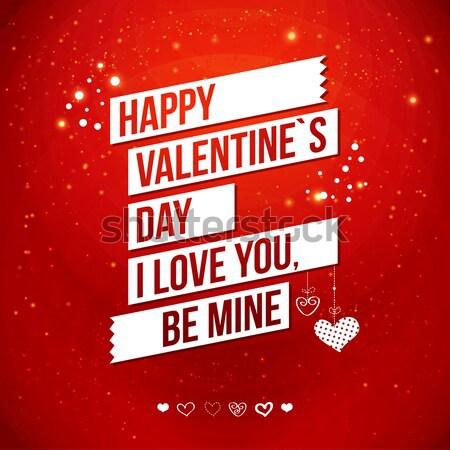 グリーティングカード デザイン バレンタインデー 広場 フォーマット ストックフォト © alevtina