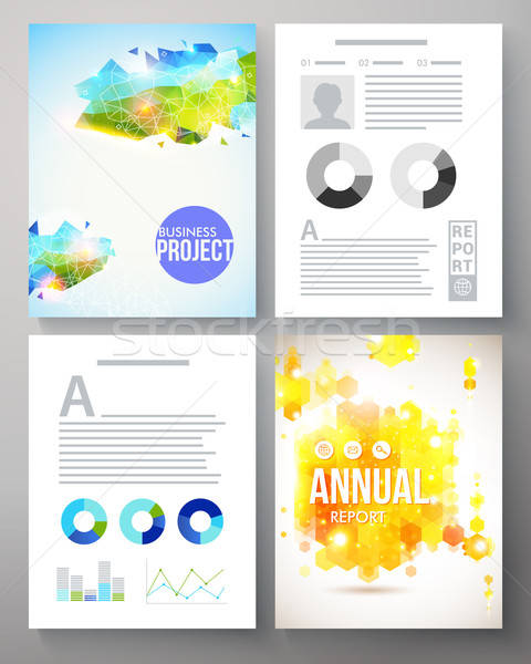 Colorful creative template for a company project Stock photo © alevtina