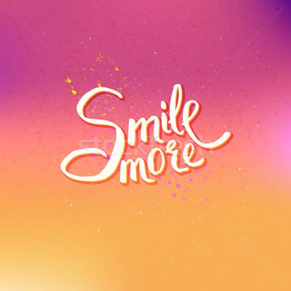Izzó szöveg terv mosoly több absztrakt Stock fotó © alevtina