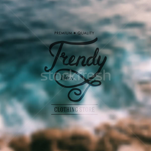 Trendy New Clothing Store advertising poster Stock photo © alevtina