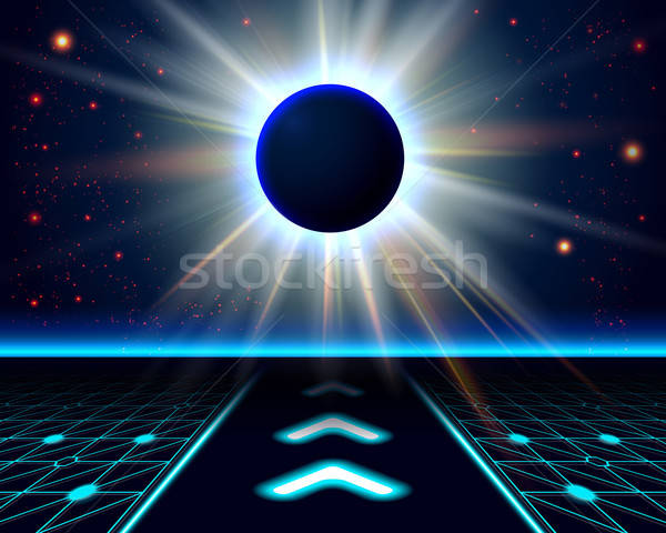 Onbekend planeet eclips abstract kosmisch vector Stockfoto © alevtina