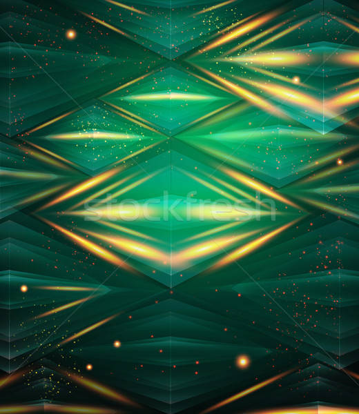 Abstract hexagon pattern. Green shiny background. Stock photo © alevtina