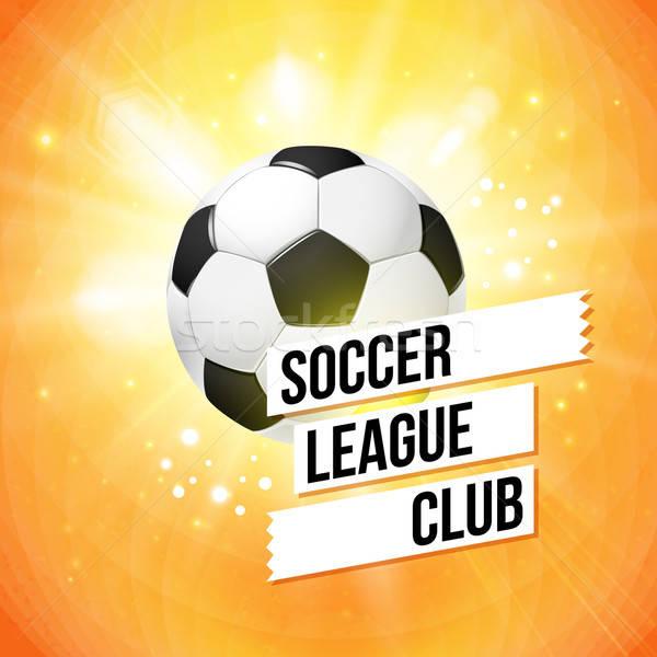 Fútbol fútbol anunciante brillante naranja tipografía Foto stock © alevtina