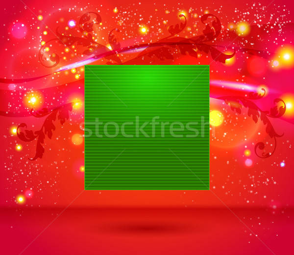 Stock photo: Bright and sparkling Christmas page layout with place for your t