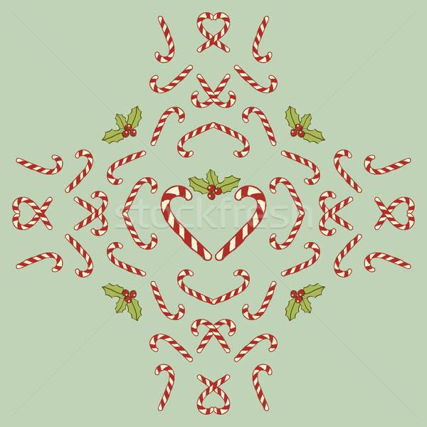Noël décoration rétro ornement hiver vacances Photo stock © alevtina
