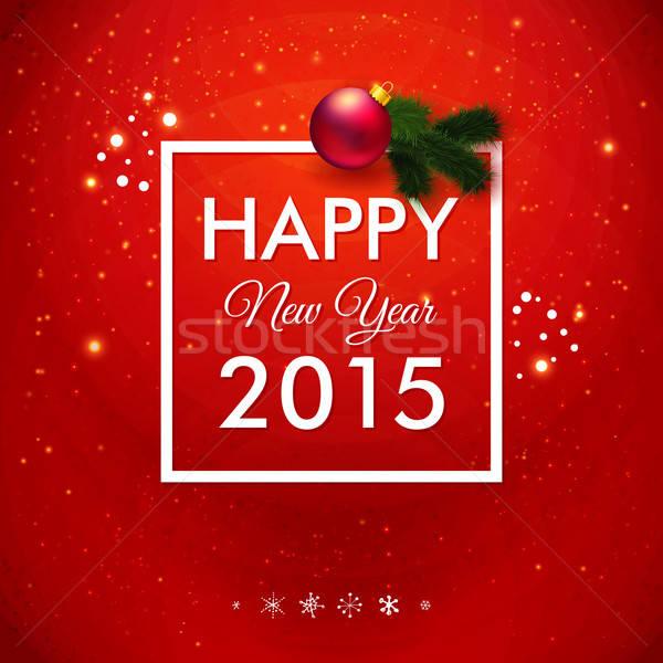 明けましておめでとうございます 2015 カード 伝統的な 赤 ベクトル ストックフォト © alevtina