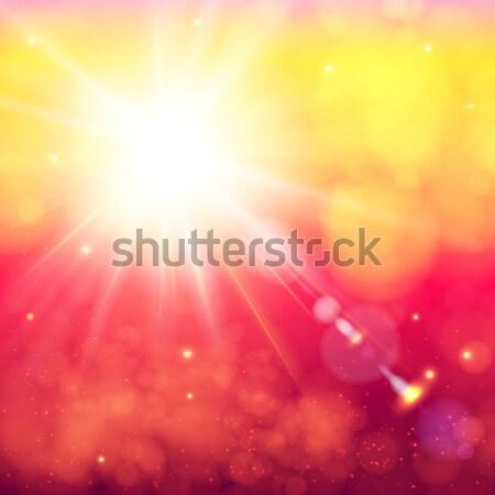 Jasne słońce miękkie bokeh Zdjęcia stock © alevtina