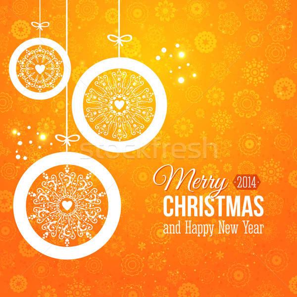 Gestileerde christmas sneeuwvlokken papier textuur Stockfoto © alevtina