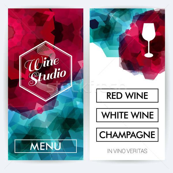 メニュー カード ワイン スタジオ ビジネス 抽象的な ストックフォト © alevtina