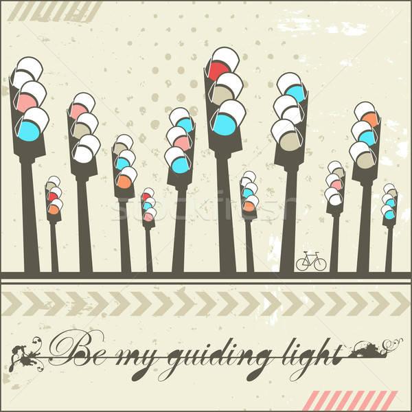 Be my guiding light - card  Stock photo © alevtina