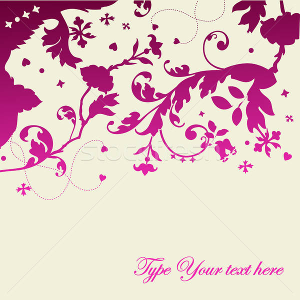 Stijlvol roze violet ontwerp vector Stockfoto © alevtina