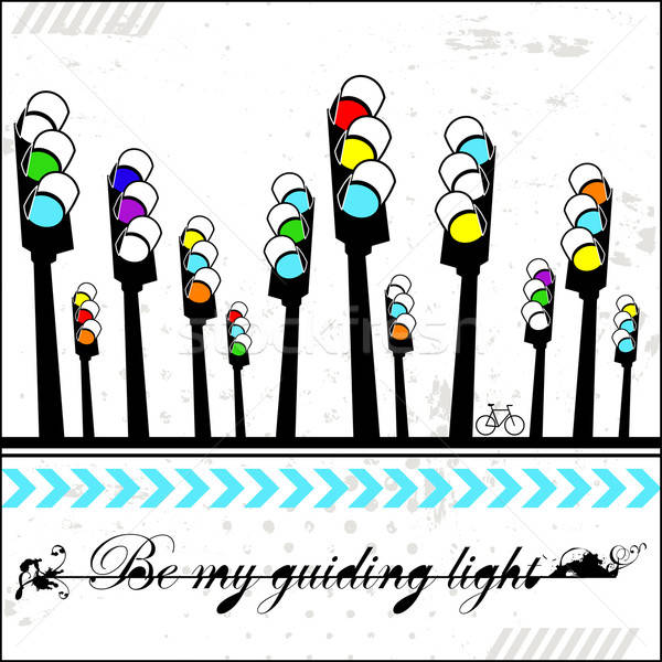 Be my guiding light - card  Stock photo © alevtina