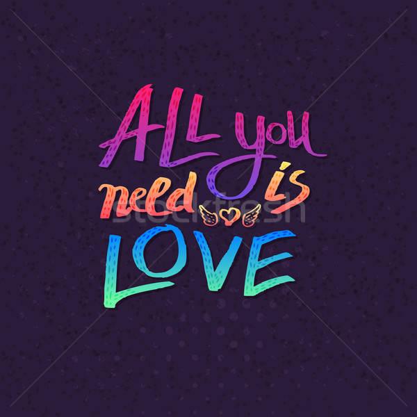 Necessidade amor colorido texto Foto stock © alevtina