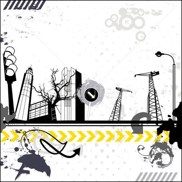Grunge urbaine carte paysage industriel vecteur Photo stock © alevtina