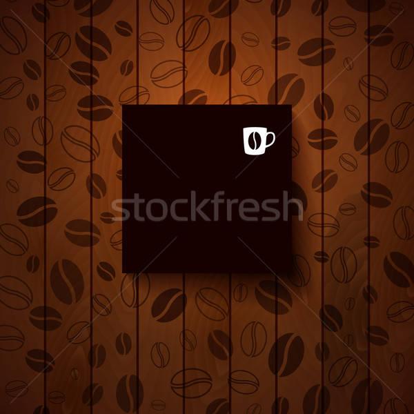 Sombre papier note lieu texte bois Photo stock © alevtina