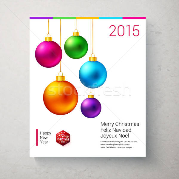 休日 カード 明るい カラフル クリスマス ストックフォト © alevtina