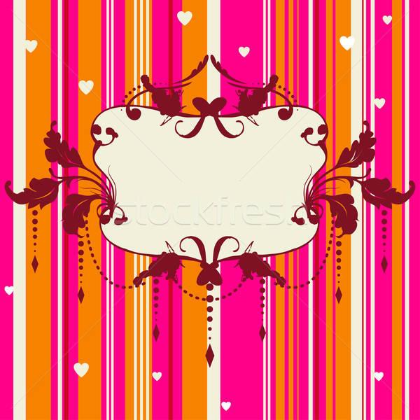 Lumineuses romantique carte floral cadre vecteur Photo stock © alevtina