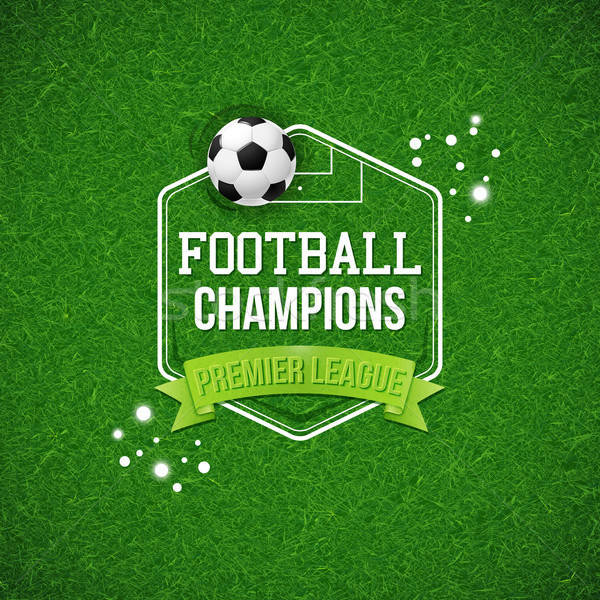 サッカー サッカー ポスター フットボールの競技場 タイポグラフィ デザイン ストックフォト © alevtina