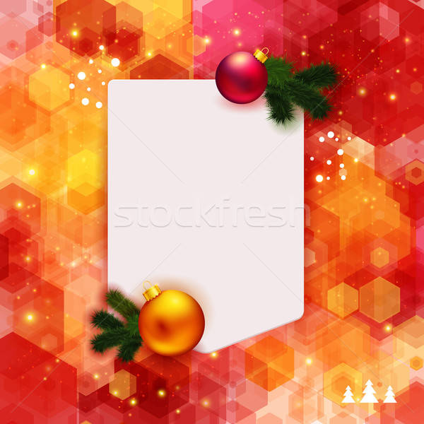 Bright hexagon background with place for your text and Christmas Stock photo © alevtina