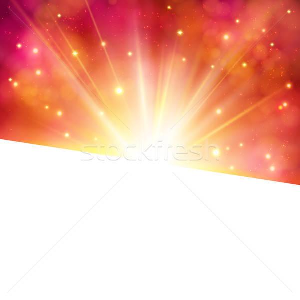 活気のある カード 星 バースト 明るい ストックフォト © alevtina