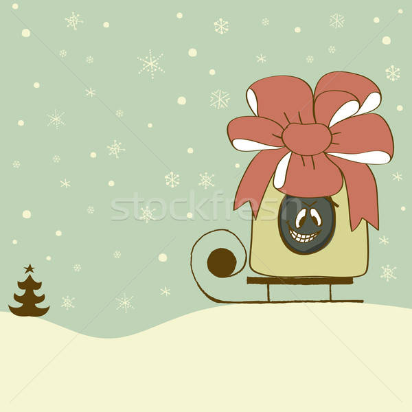 смешные тварь сокрытие внутри подарок Сток-фото © alevtina