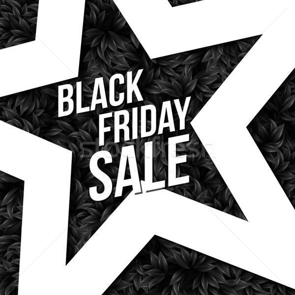 Black friday vente affiche vecteur illustration Photo stock © alevtina