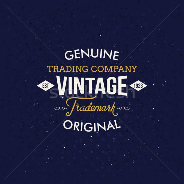 Vintage moda etichette buio blu creativo Foto d'archivio © alevtina