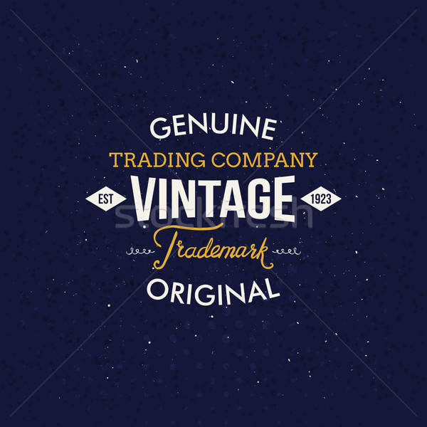 Vintage моде Этикетки темно синий Creative Сток-фото © alevtina