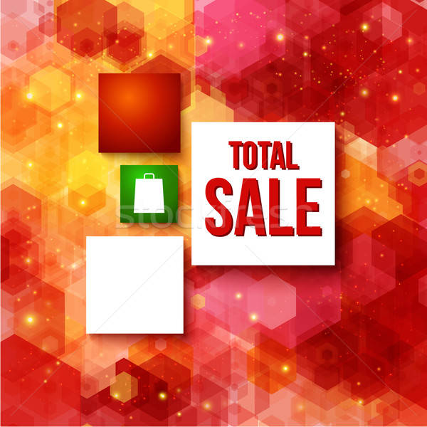 Christmas sale layout with place for Your advertisement. Stock photo © alevtina