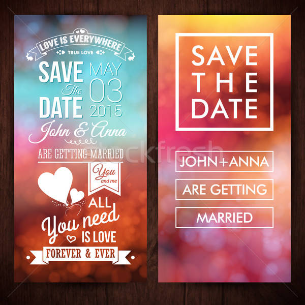 Save the date for personal holiday. Wedding invitation. Vector i Stock photo © alevtina