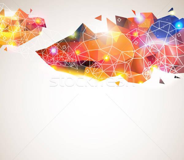 Kolorowy geometryczny wzór tekstury przemysłu nauki Zdjęcia stock © alevtina