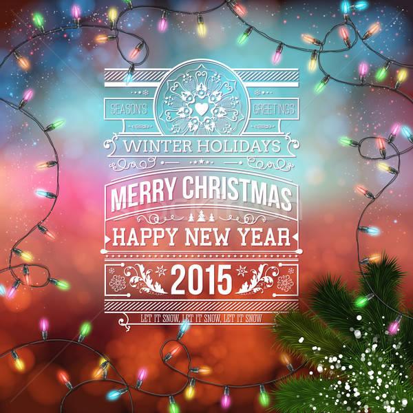 クリスマス デザイン ぼけ味 花輪 テクスチャ 幸せ ストックフォト © alevtina