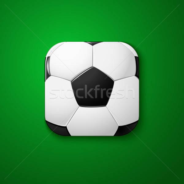 Voetbal voetbal icon gestileerde zoals mobiele Stockfoto © alevtina