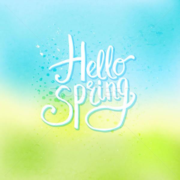 привет весны аннотация Cool простой белый Сток-фото © alevtina