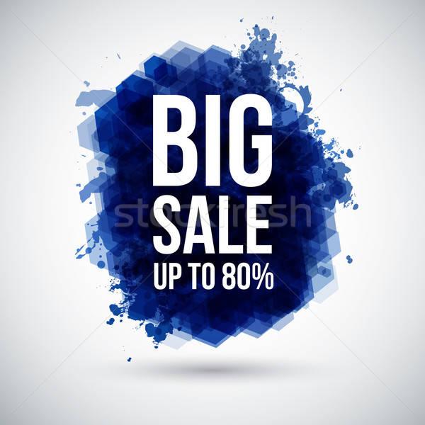 Big sale background. Lettering on a stylized ink blot.  Stock photo © alevtina